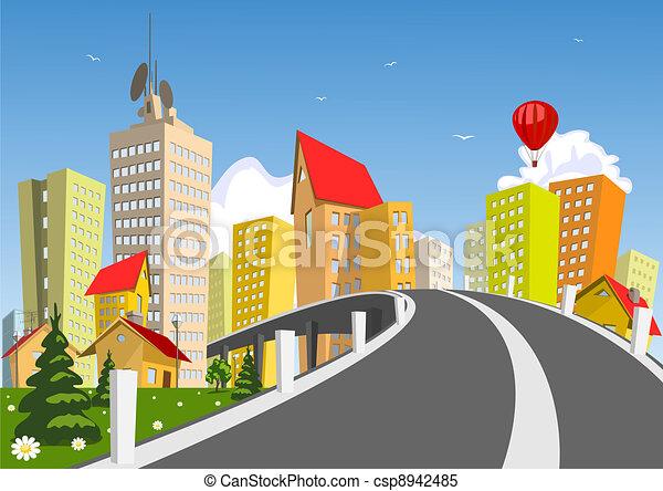 Vector city - summer - csp8942485