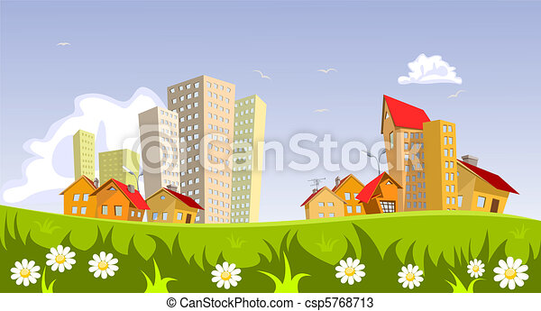 Vector city - summer - csp5768713
