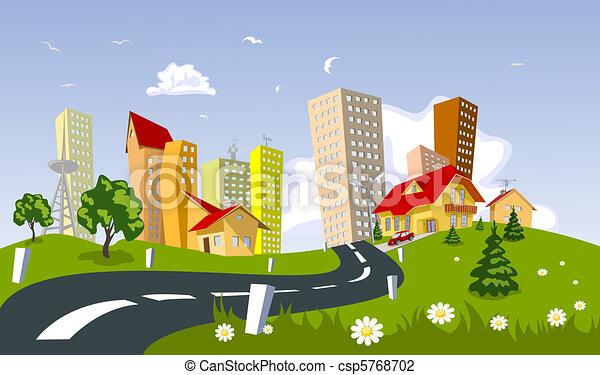 Vector city - summer - csp5768702