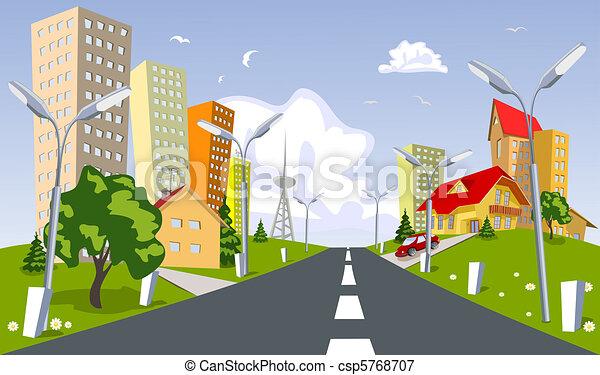 Vector city - summer - csp5768707