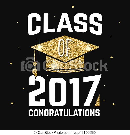 Vector Class of 2017 badge. - csp46109250