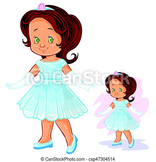 vector clip art illustration with young girl in ballroom period rh canstockphoto com young clippers green island young clip art