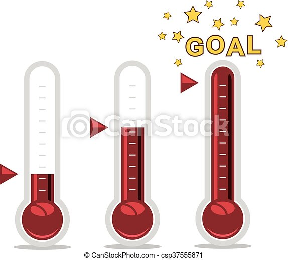 vector clipart of goal thermometers - csp37555871