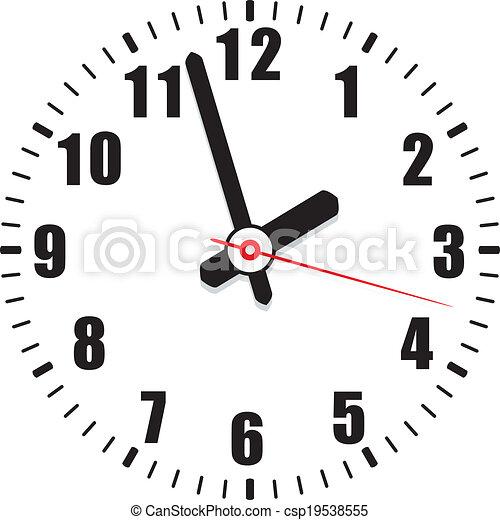 vector  clock face - csp19538555