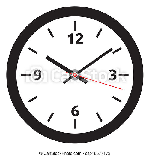 vector clock face - easy change tim - csp16577173
