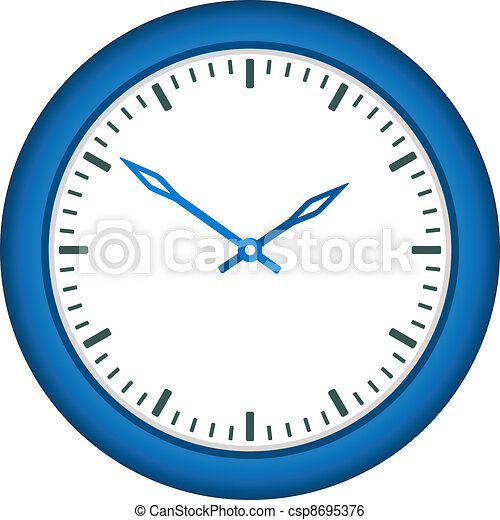 vector clock face - easy change time - csp8695376