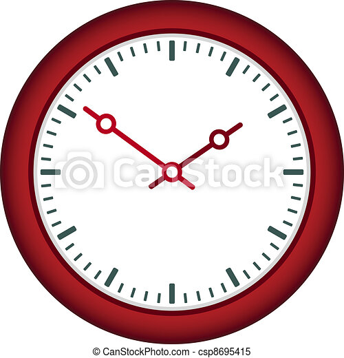 vector clock face - easy change time - csp8695415