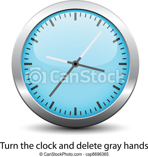 vector clock face - easy change time - csp8696365