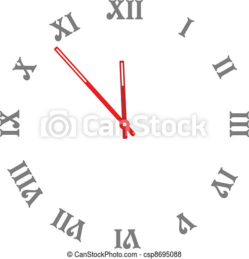 vector clock face - easy change time - csp8695088