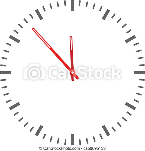 vector clock face - easy change time - csp8695133