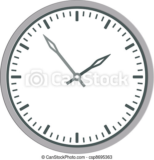 vector clock face - easy change time - csp8695363