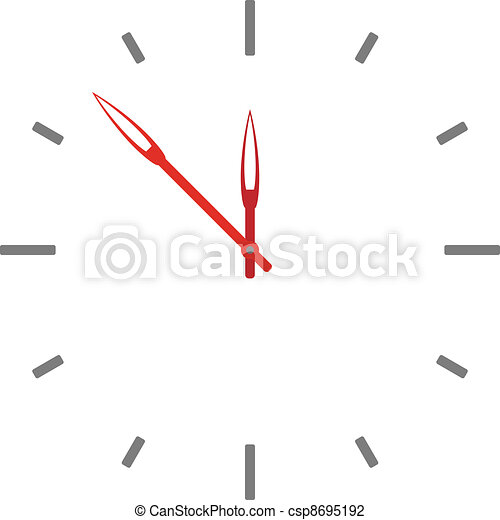 vector clock face - easy change time - csp8695192