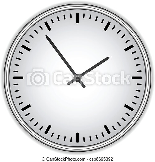 vector clock face - easy change time - csp8695392