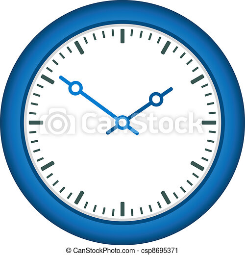 vector clock face - easy change time - csp8695371