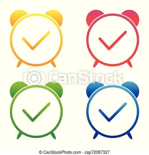 Vector - Clock time icon - csp72087327