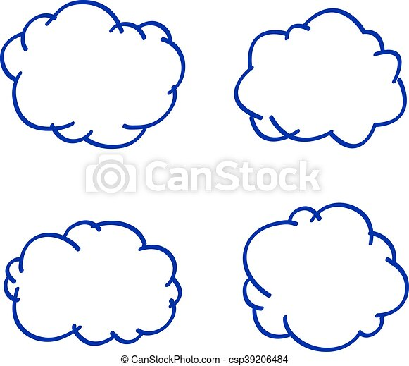 vector cloud hand drawn speech or weather symbol vector search rh canstockphoto com cloud graphics card cloud graphics card