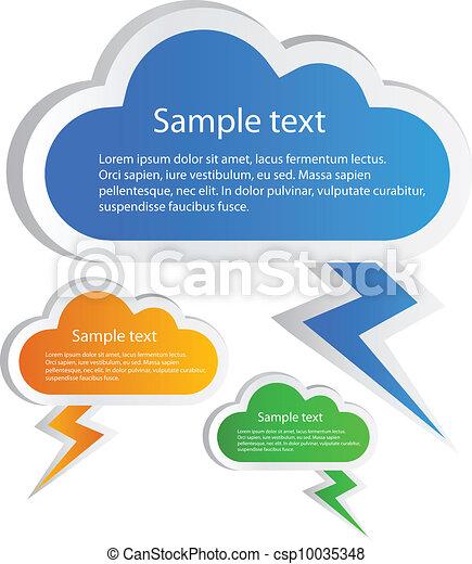 Vector cloud stickers - csp10035348