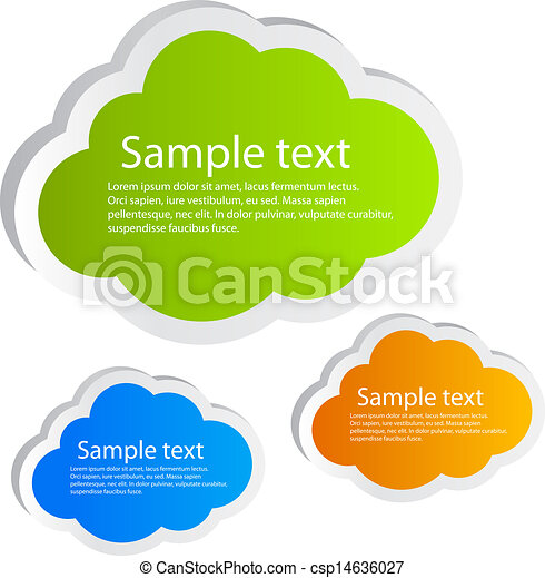 Vector clouds illustration - csp14636027