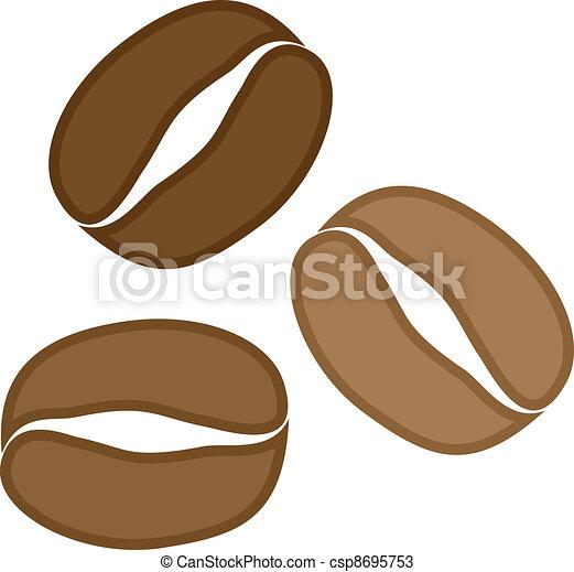 Vector Coffee Grains