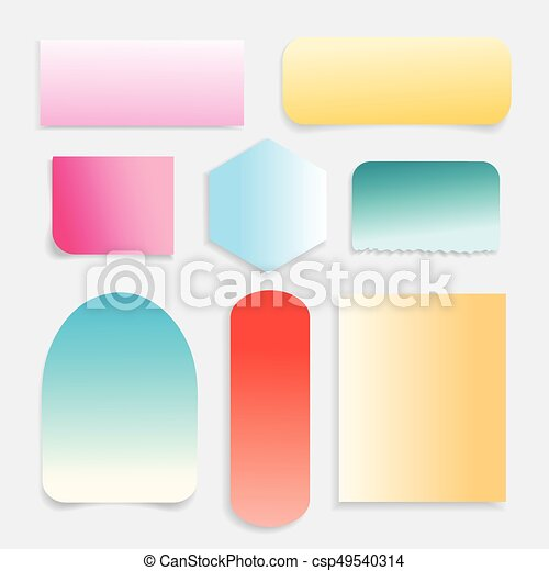 Vector collection of different colored paper - csp49540314