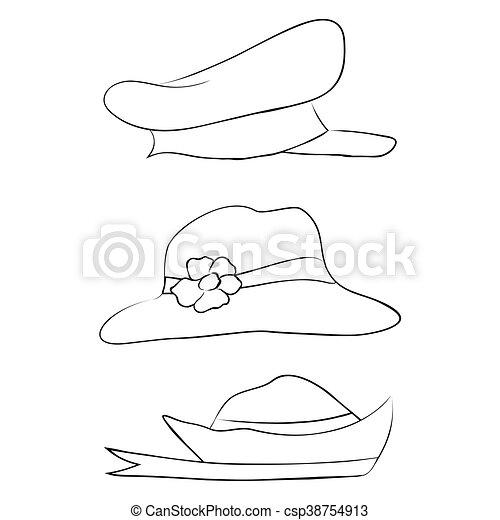 77ebd098ec6e3 Vector collection of hats for men