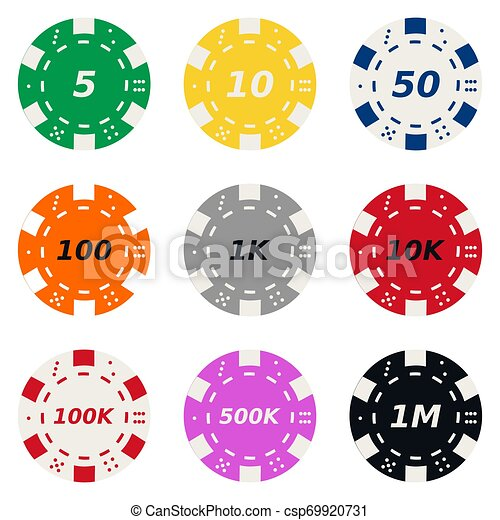 Vector Collection Of Poker Chips High Quality Vector Collection