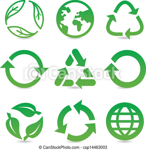 vector collection with recycle signs and symbols - csp14463003