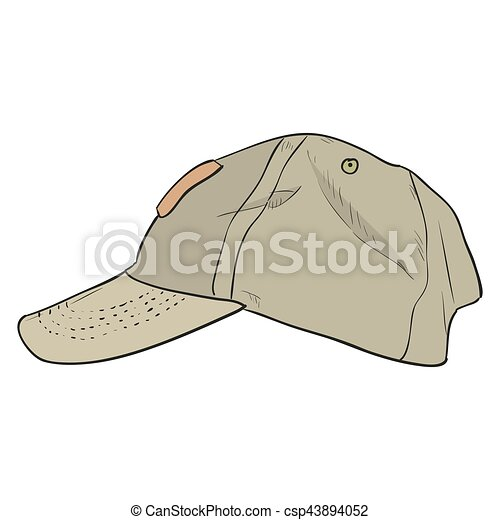 Vector color sketch cap template. hand draw illustration. clipart ...