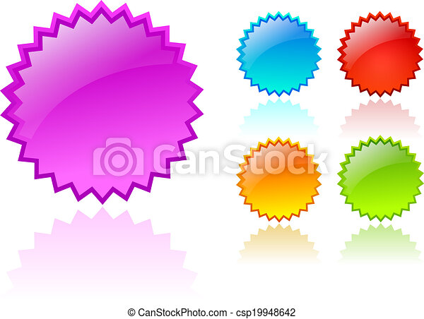 Vector color stars - csp19948642