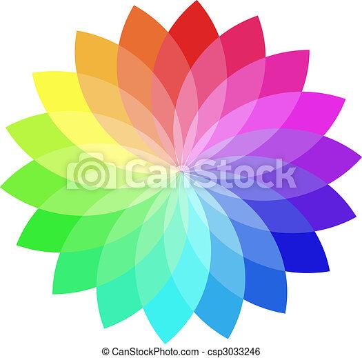 Vector color wheel. - csp3033246