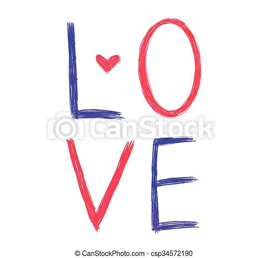 heart on word