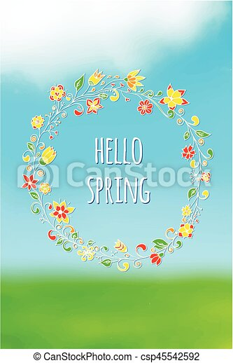 Vector colorful background for spring or summer design for vector colorful background for spring or summer design for invitation wedding or greeting stopboris Choice Image