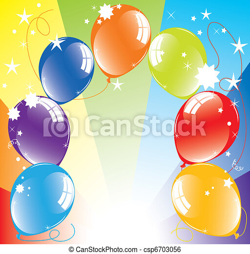 vector colorful balloons and light-burst - csp6703056