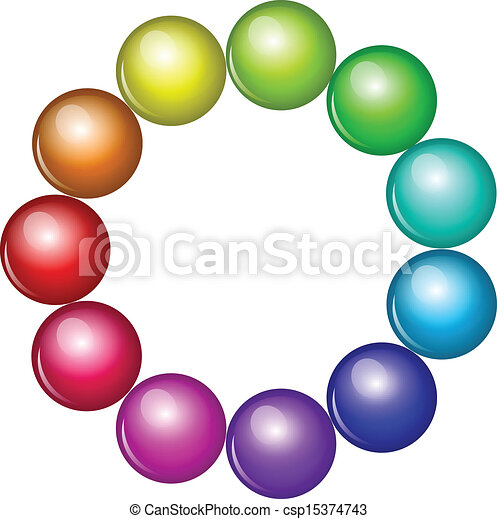 Vector colorful beads - csp15374743