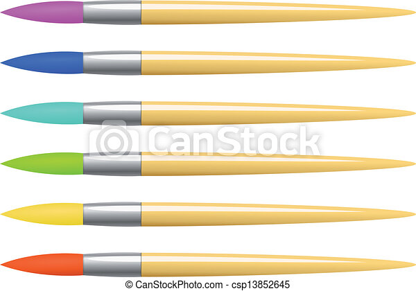 Vector colorful brush set - csp13852645