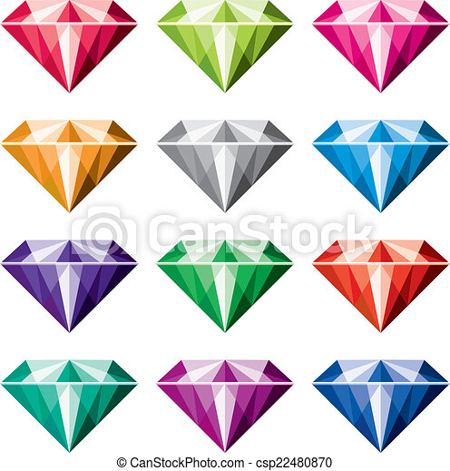 vector colorful diamonds vector collection of colorful vectors rh canstockphoto ca free clipart diamonds diamonds clip art free