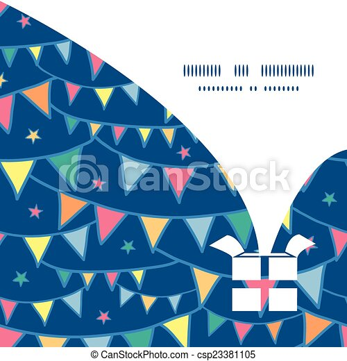 Vector colorful doodle bunting flags christmas gift box silhouette vector colorful doodle bunting flags christmas gift box silhouette pattern frame card template maxwellsz