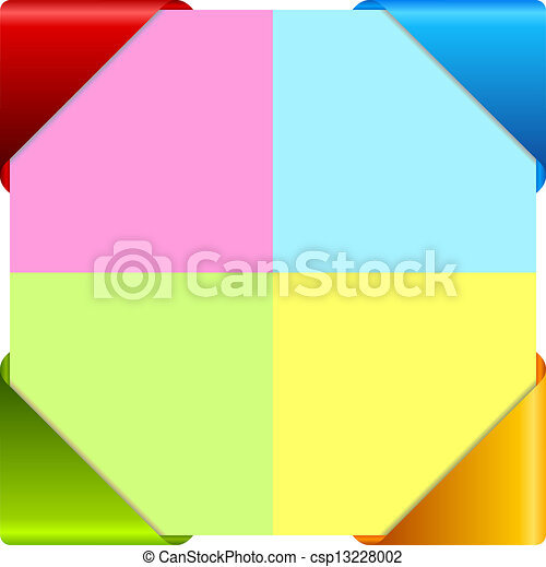 Vector colorful information cards - csp13228002