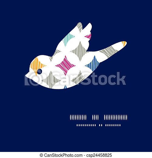 Vector colorful marble textured tiles bird silhouette pattern frame - csp24458825