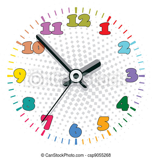 vector, colorido, reloj - csp9055268