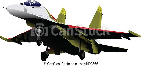 vector combat aircraft - csp4493766