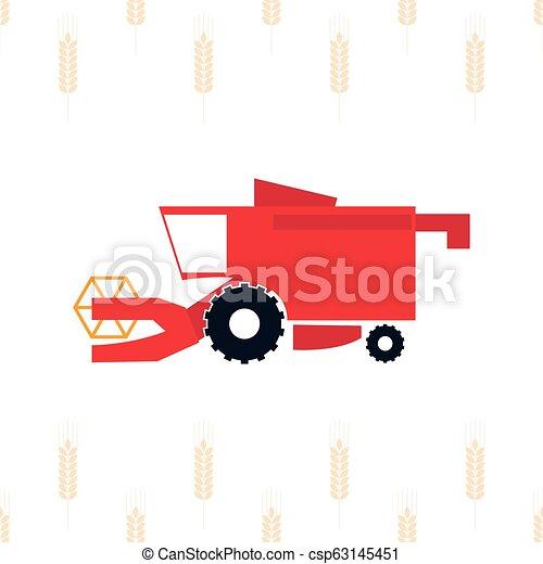 Ilustración de vectores de cosechadora. Vector agricultural m - csp63145451