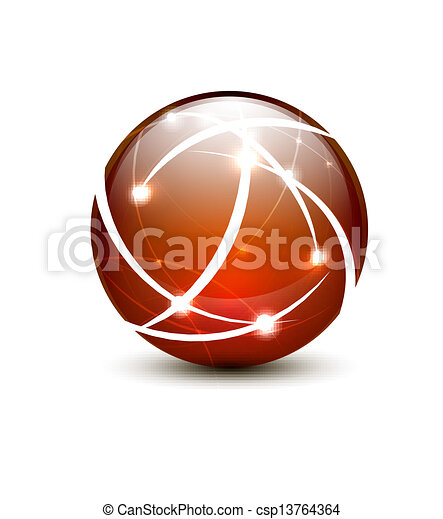 Vector communication globe icon concept - csp13764364