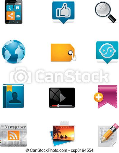 Vector communication&social media - csp8194554