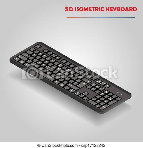 Vector de teclado negro en 3D - csp17123242