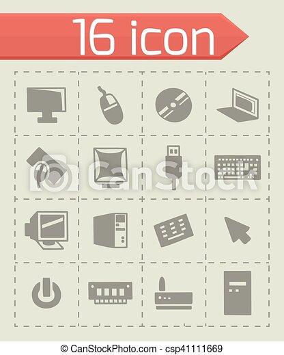 Vector Computer icon set - csp41111669