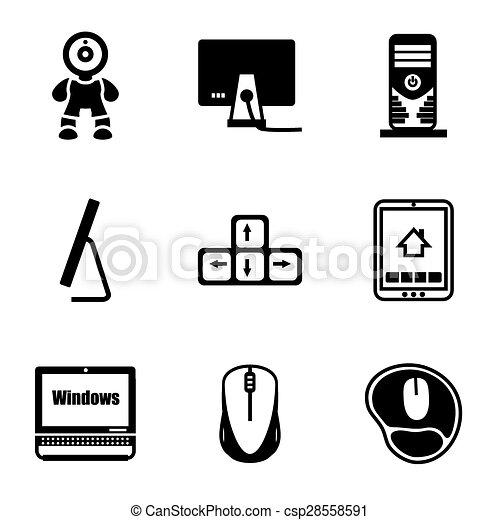 Vector Computer icon set - csp28558591