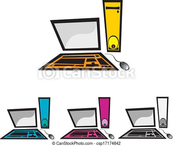 vector computer icon set - csp17174842