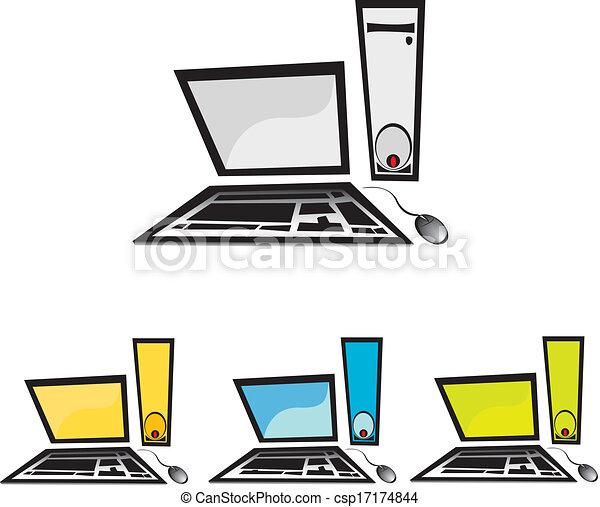 vector computer icon set - csp17174844