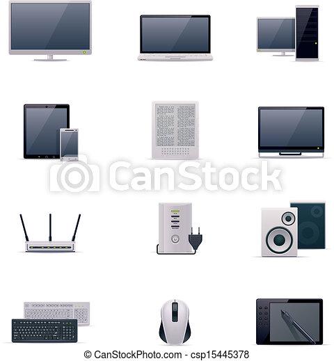 Vector computer icon set - csp15445378